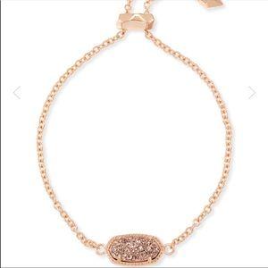 Kendra Scott Alaina rose gold drusy bracelet